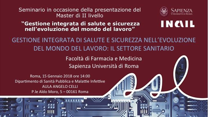 II seminario di promozione del Master interfacoltà Sapienza-Inail